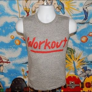 Vintage workout tank top 80s small